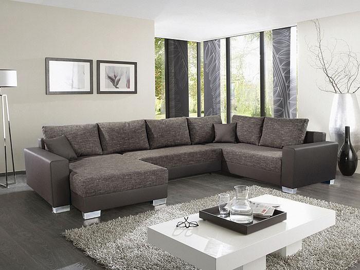 wohnzimmer schwarz weiß braun: modernes sofa designer couch fuers ...